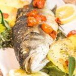 pescado al horno con patatas